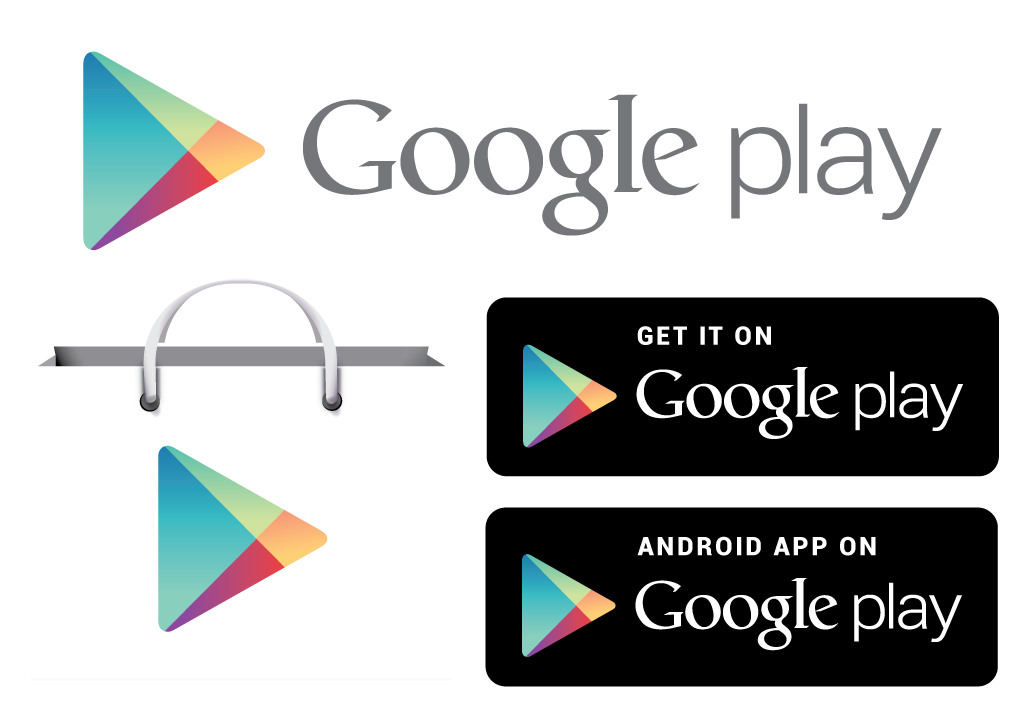 Offers badge in various. Google play button png