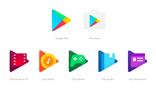 Google play button png. Unveils revamped app icons