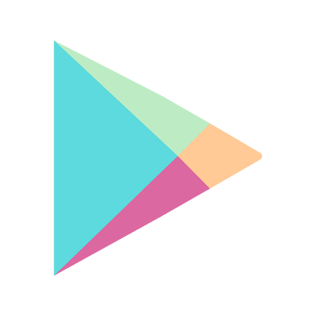 Logo template for free. Google play icon png