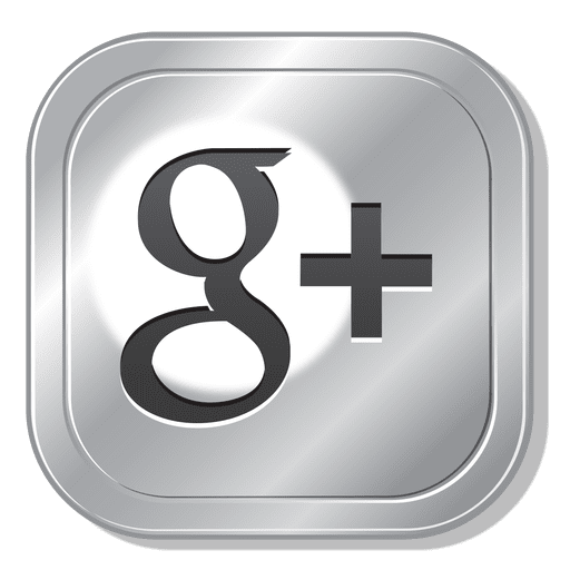 Metal button svg vector. Google plus icon transparent png