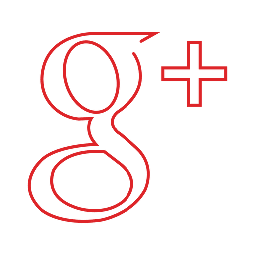 Red googleplus line svg. Google plus icon transparent png