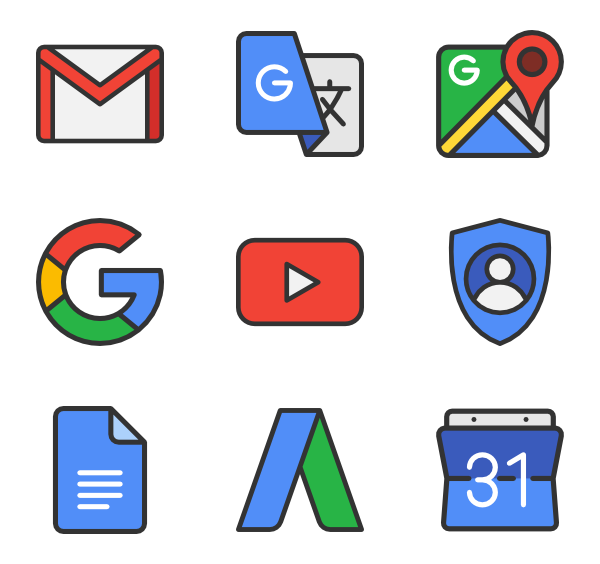 Google png.  icon packs vector
