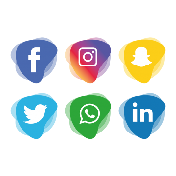 Facebook instagram twitter icons png. Social media vectors psd