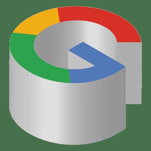 Google png logo. Isometric icon transparent svg