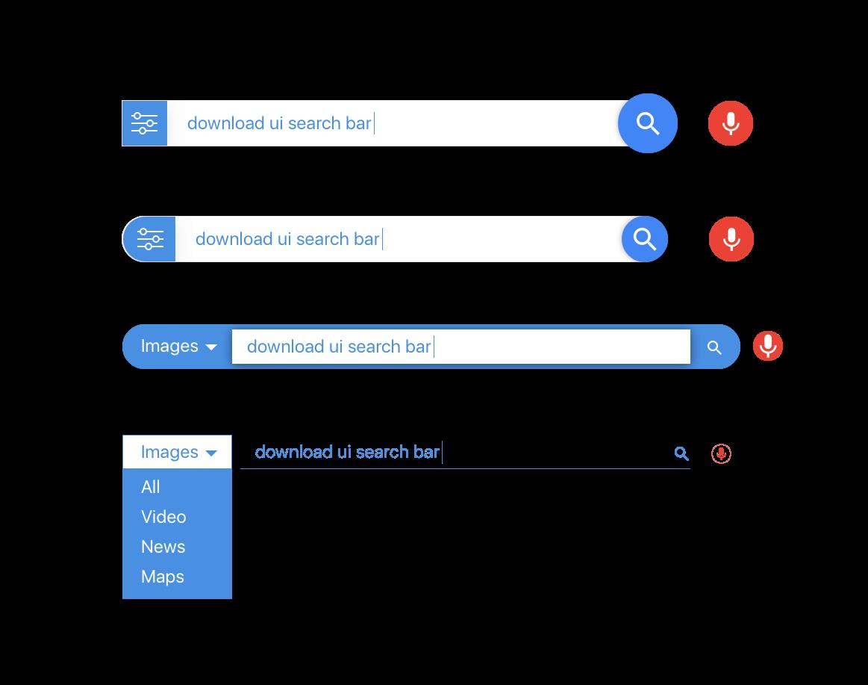 Ui design for sketch. Google search bar png