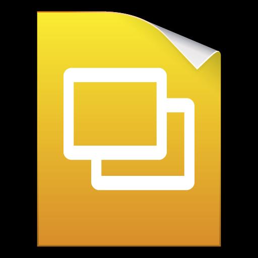 Google slides png. Keynotes docs presentation icon