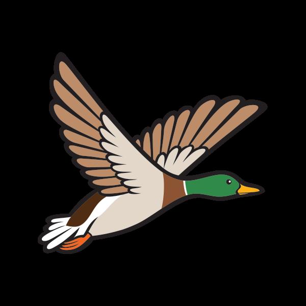 Hunter clipart goose hunting. Printed vinyl wild flying