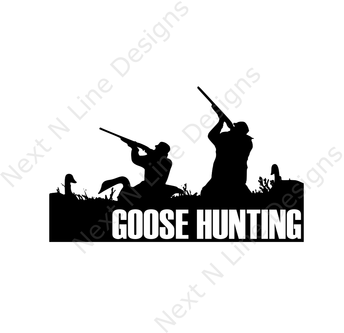Hunter clipart pheasant shooting. Goose hunting decal products