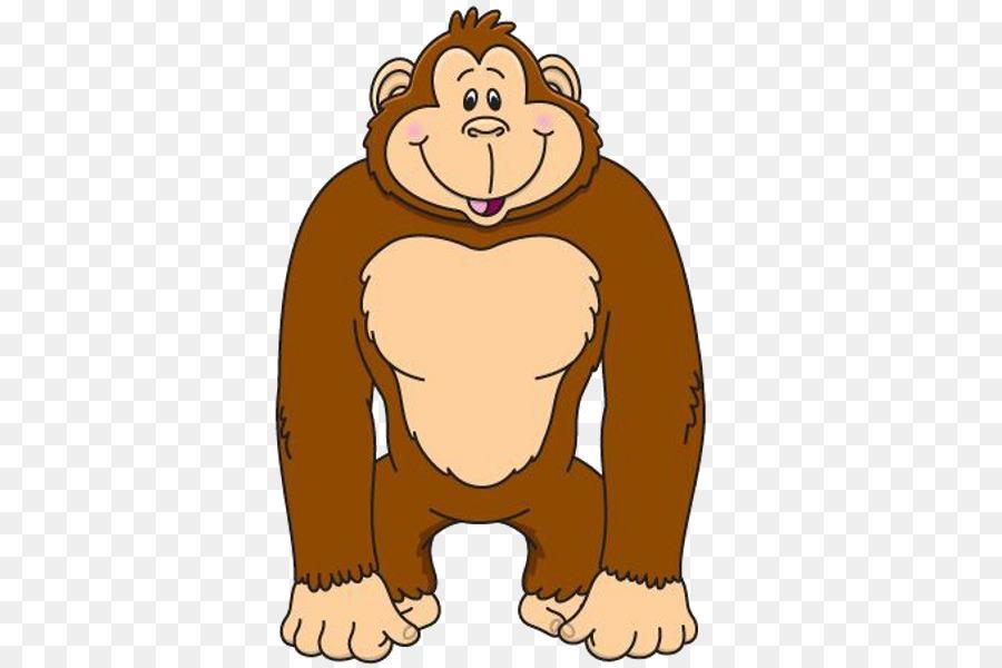Ape clip art png. Gorilla clipart