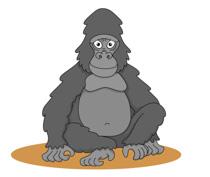 Gorilla clipart. Free clip art pictures