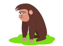 Free clip art pictures. Gorilla clipart