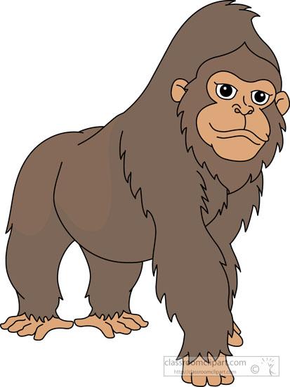 Gorilla clipart. Large western e largewesterngorillaclipartejpg
