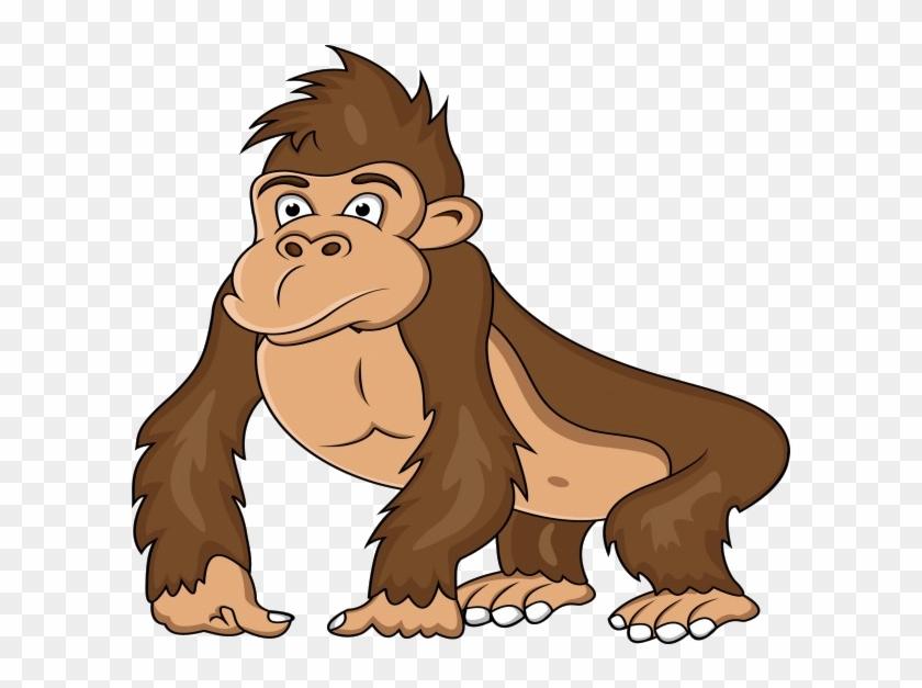 Gorilla clipart ape. Western clip art cartoon