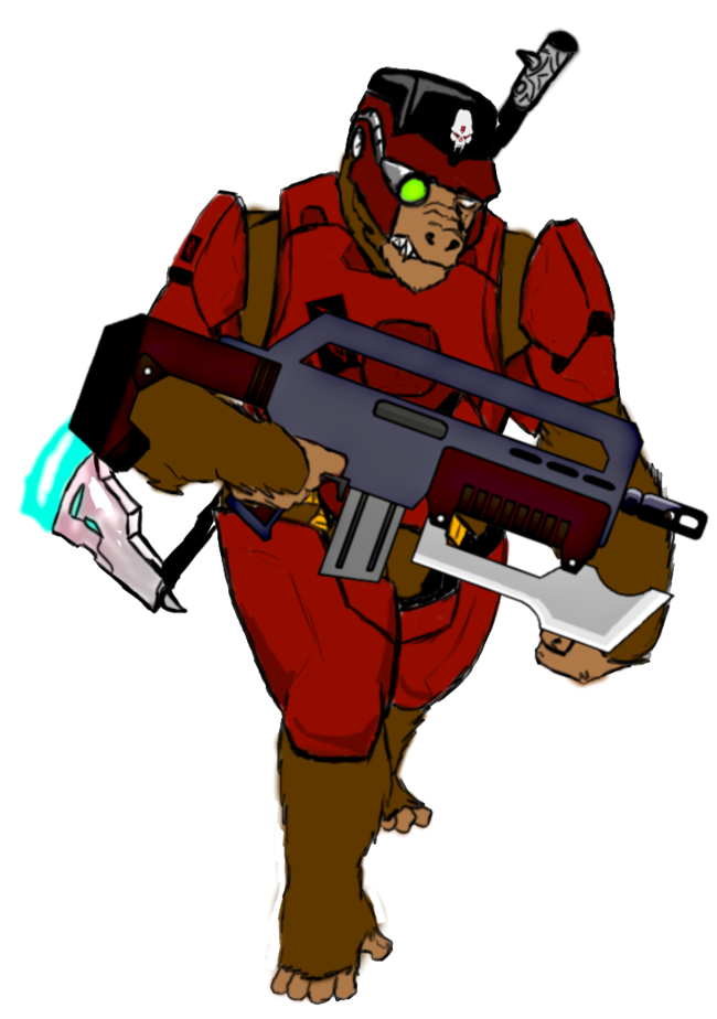 Gorilla assault type by. Soldiers clipart commando