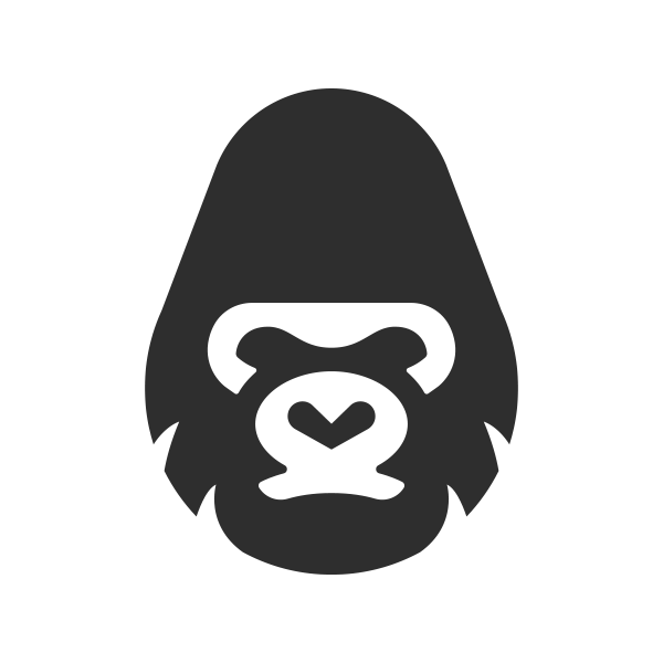 Gorilla gorilla head