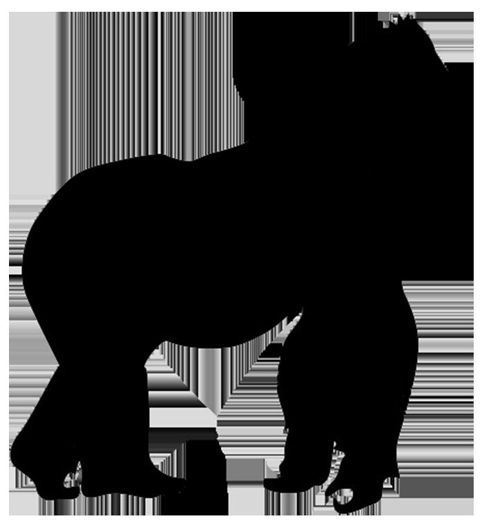 Animal silhouette clip art. Gorilla clipart mad