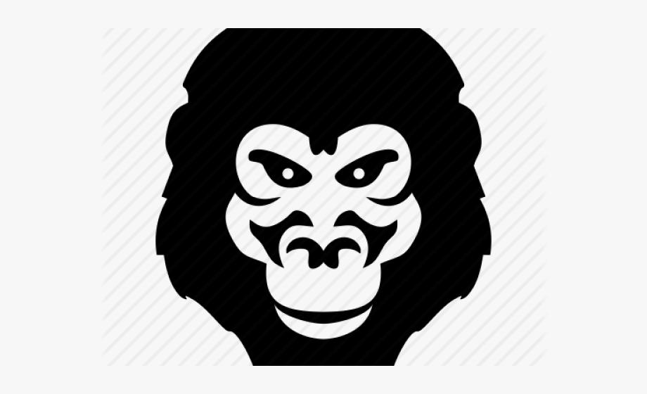 Monkey illustration cliparts . Gorilla clipart mad