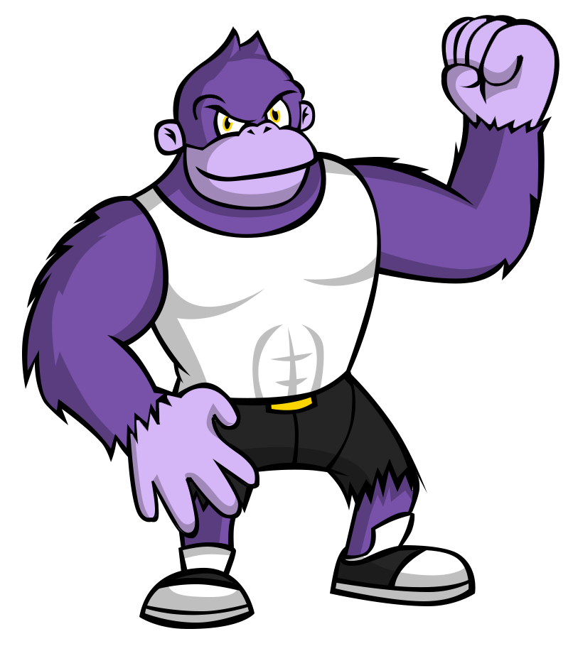 Purple clipart gorilla. Athletic by ekarasz on