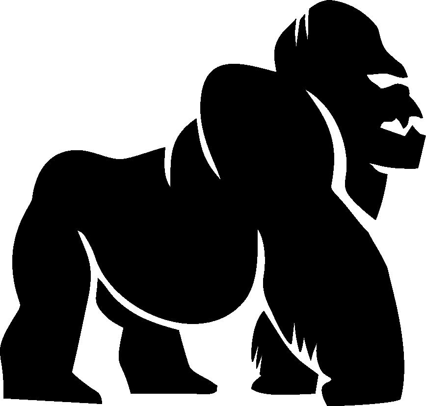 Apparel metallic . Purple clipart gorilla