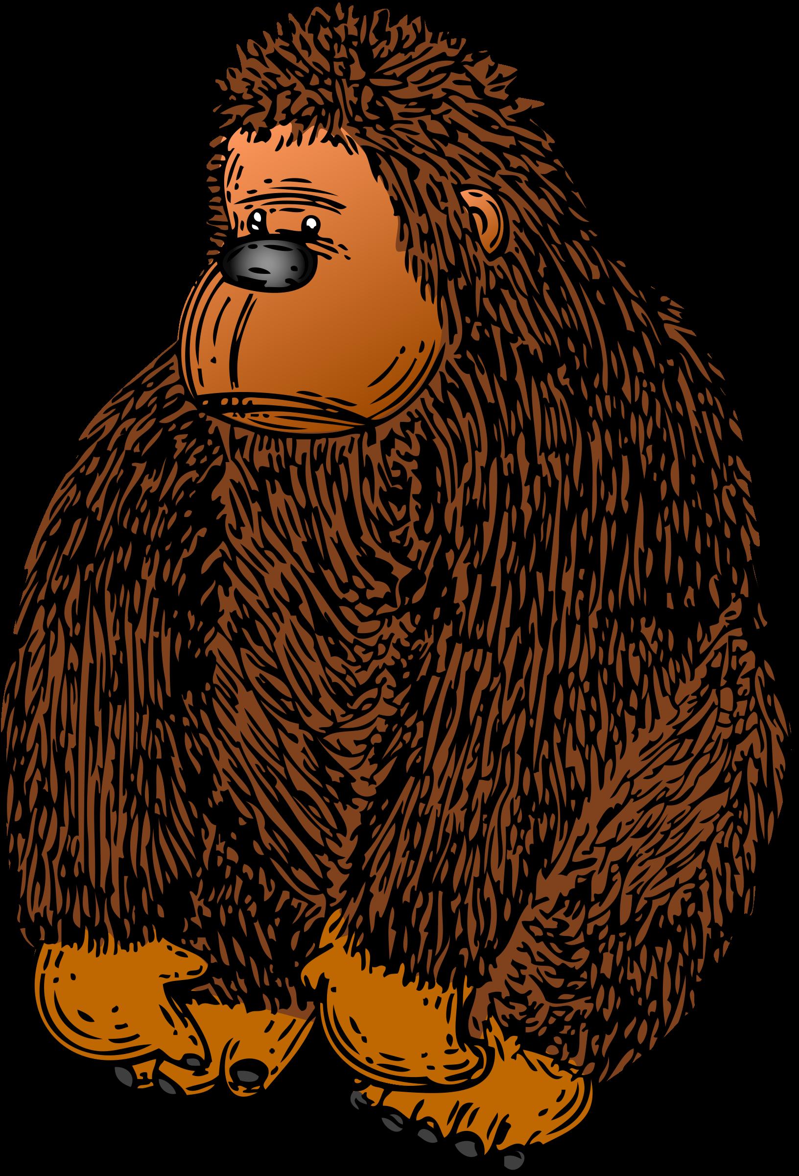 With colour big image. Gorilla clipart zoo gorilla