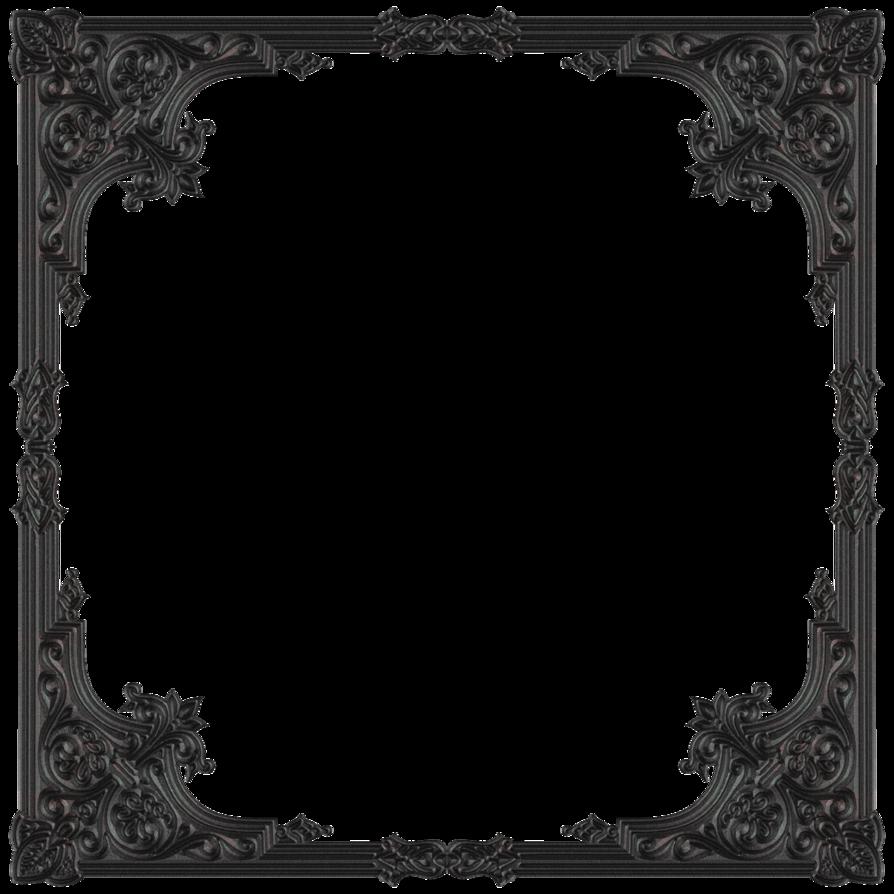 Gothic border png. Fantastic old photo frame