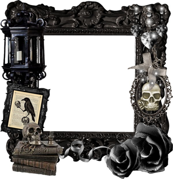 Halloween cadre gothique tube. Gothic frame png