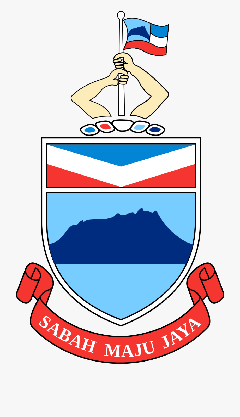Jata sabah free . Government clipart chief state