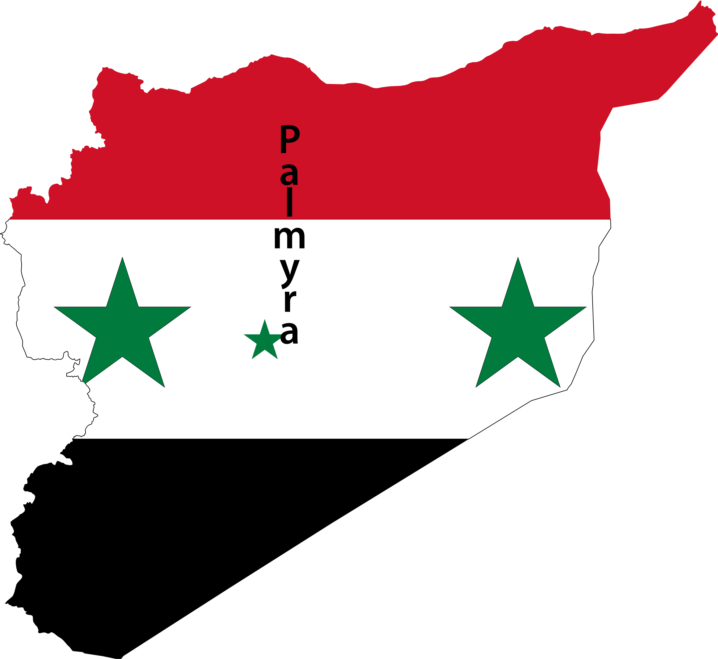 Government clipart president. Syria map flag with