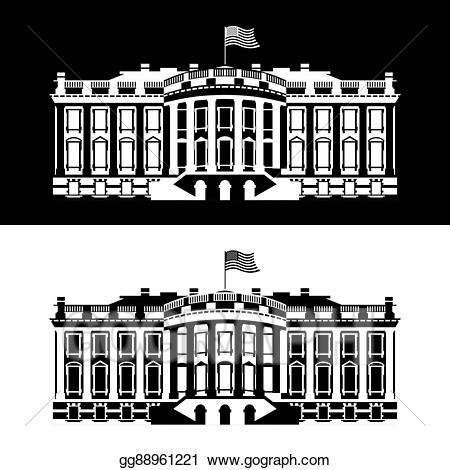 Eps vector white house. Government clipart president