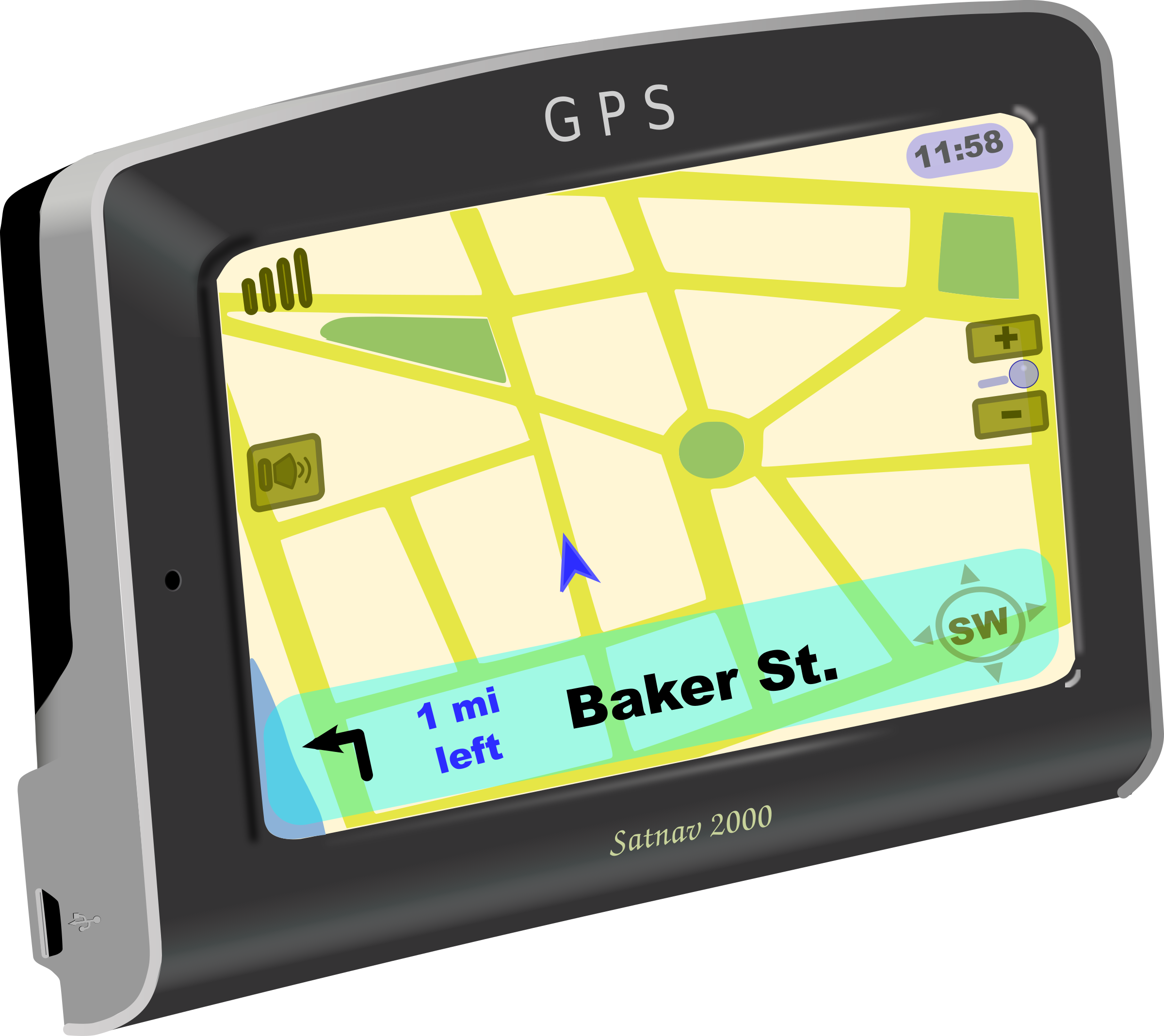 On big image png. Gps clipart