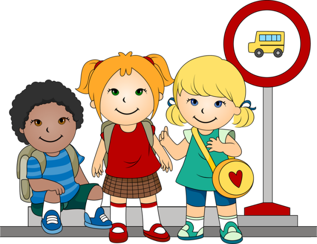 Walking school bus clip. Gps clipart cartoon