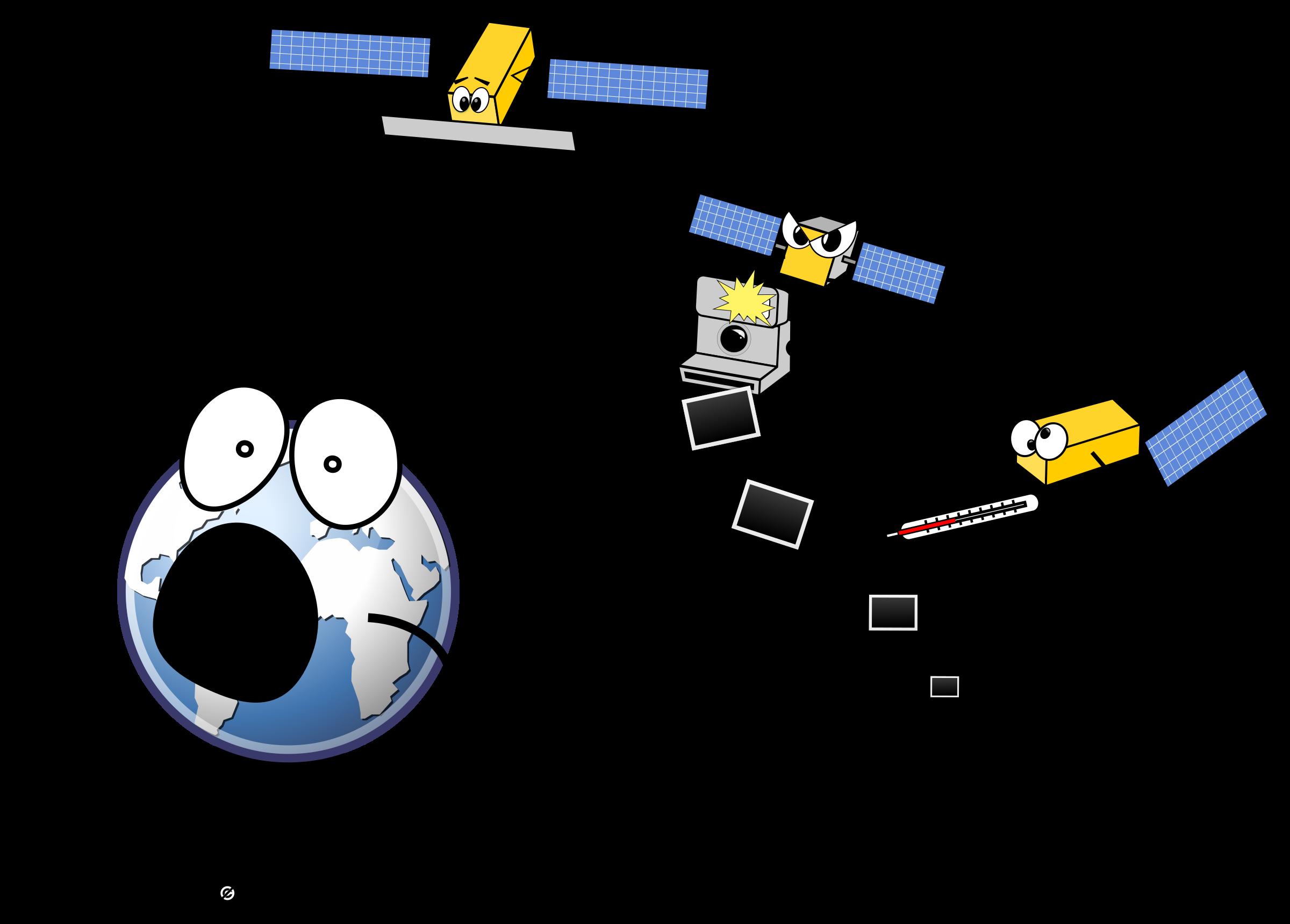 Gps clipart cartoon. Sentinel satellites parody icons
