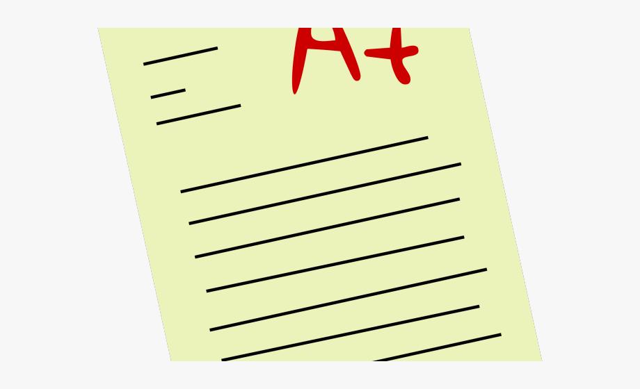 Exam grades cliparts product. Essay clipart graded paper