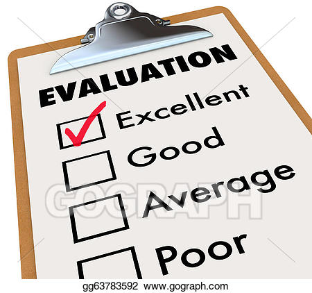 Evaluation report card clipboard. Grades clipart