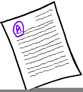 Grading papers free images. Grades clipart graded paper