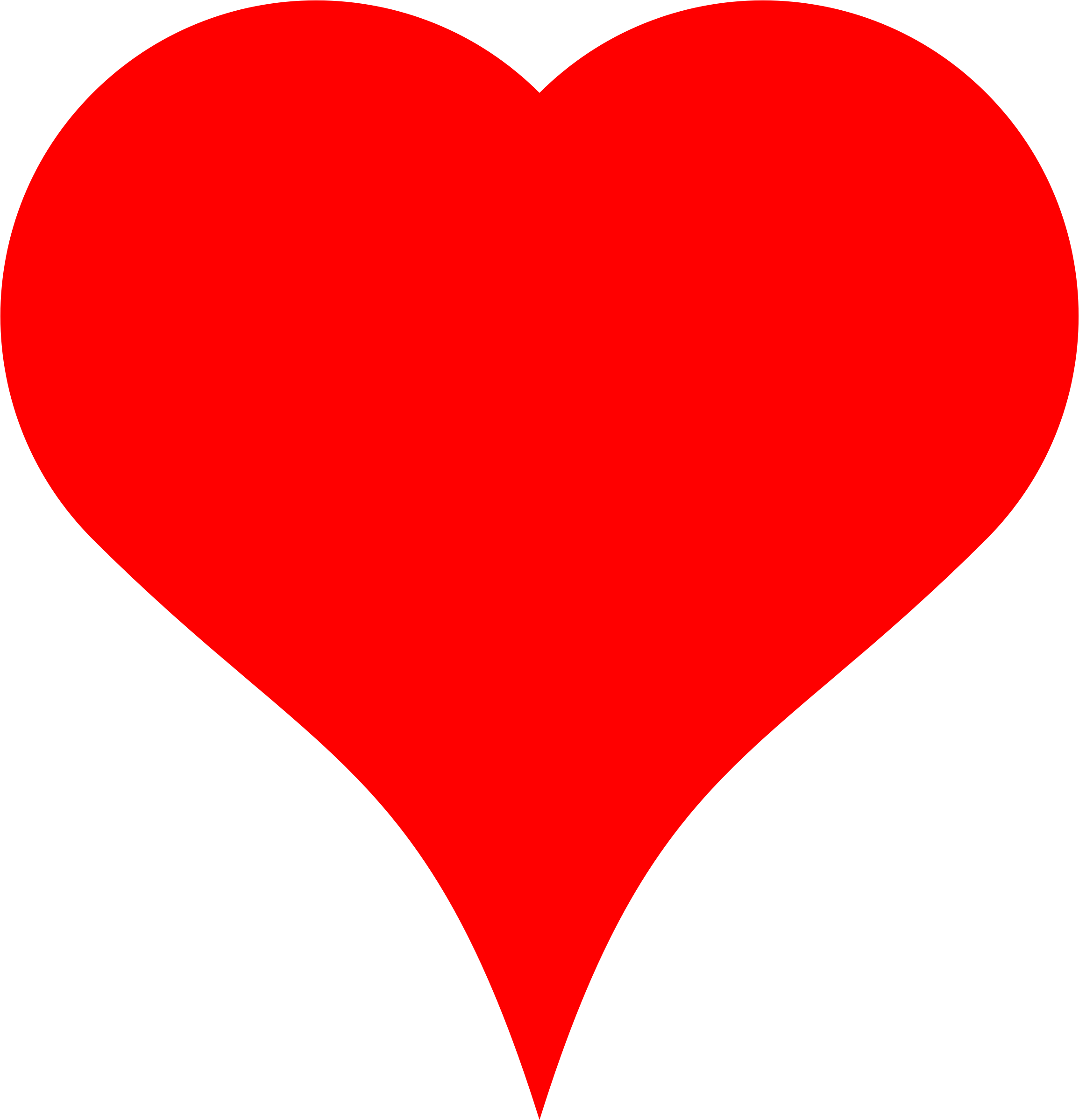 Heart clipart orange. Hal made of semicircle