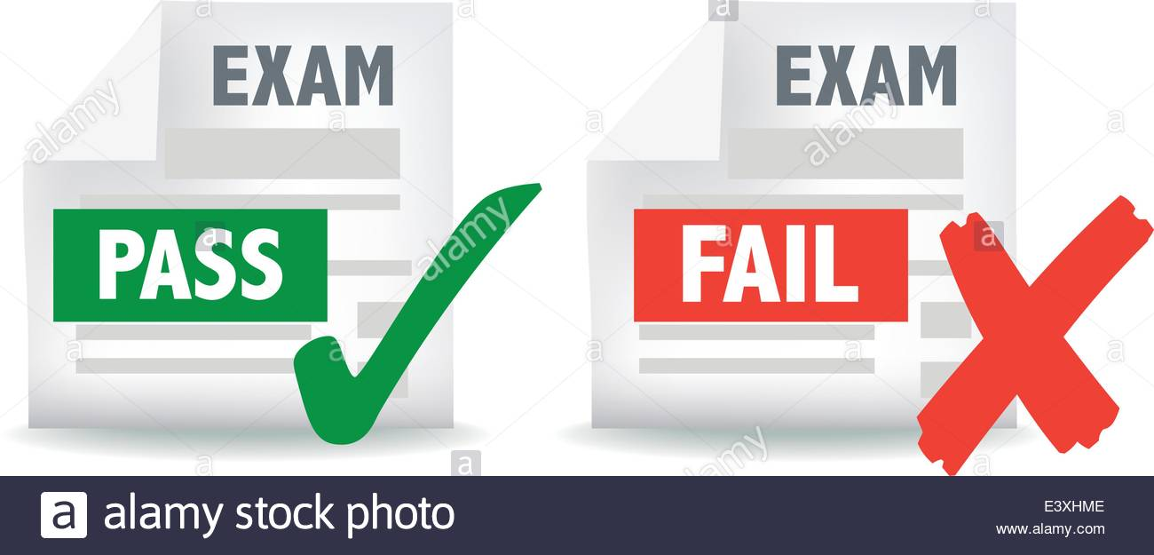 Grades clipart passed test. Pass fail icon free