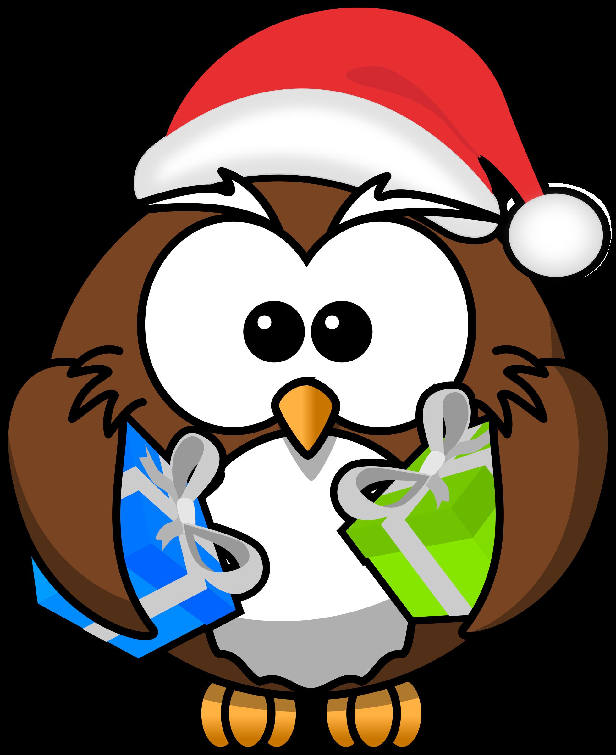 Santa by bocian owls. July clipart owl