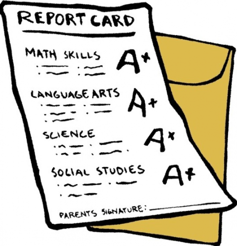 Grades clipart report card. Freebies for good education