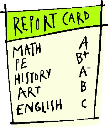 Free images of cards. Grades clipart report card