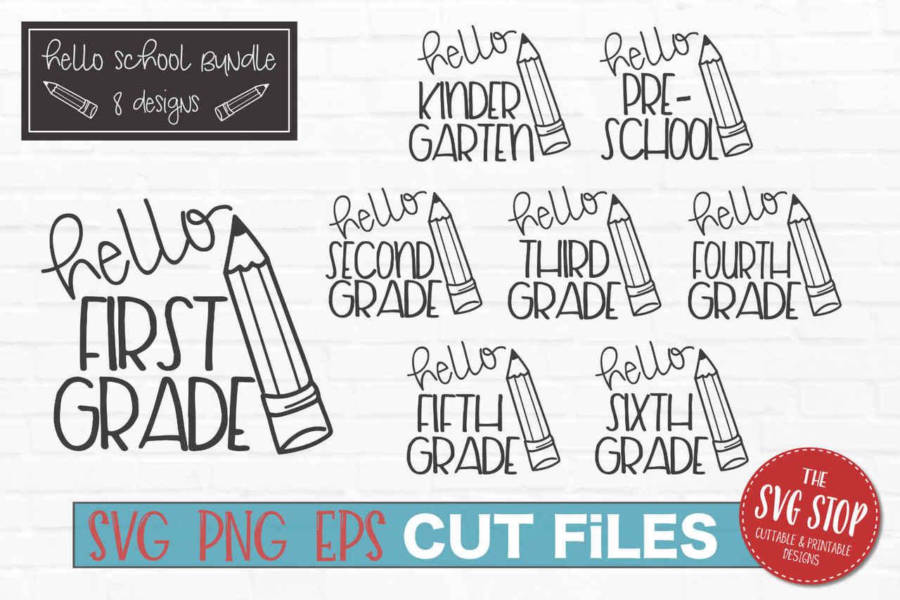 Hello bundle cut file. Grades clipart school grade