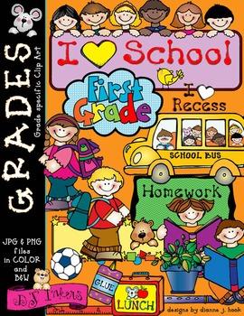 Grades clipart school project. Cute first grade clip