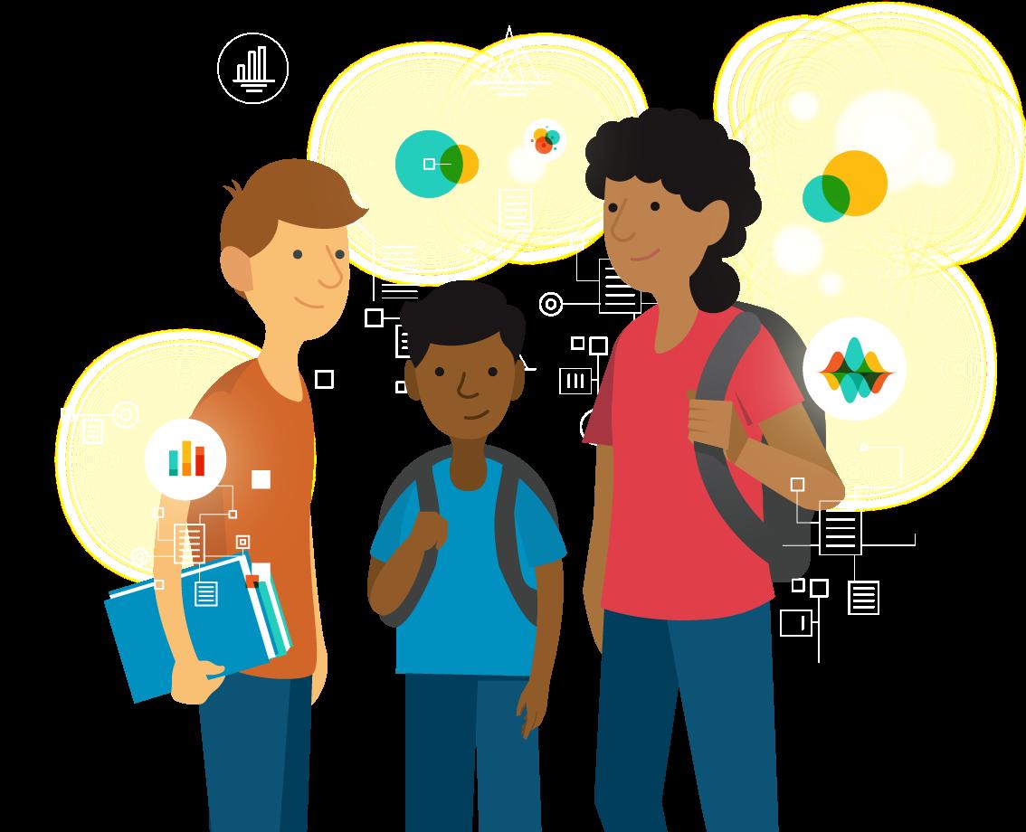 Data for kids edtech. Grades clipart smart kid
