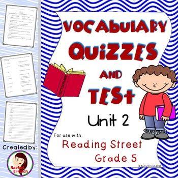 Reading street grade vocabulary. Grades clipart unit test