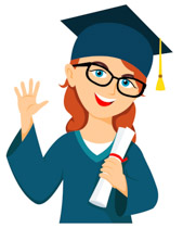 Graduation clip art images. Graduate clipart