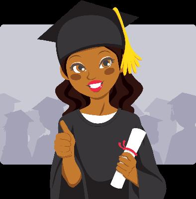 African american graduation . Graduate clipart