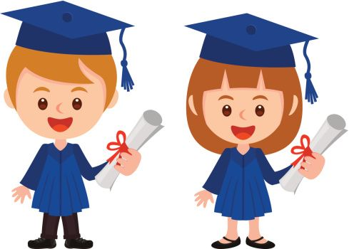 boy and girl. Graduation clipart