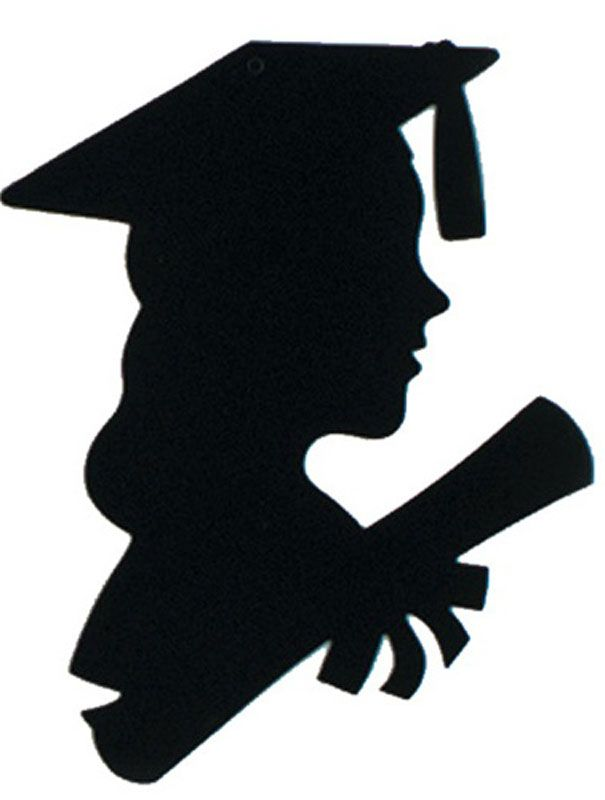 Female silhouette graduate best. Future clipart grad