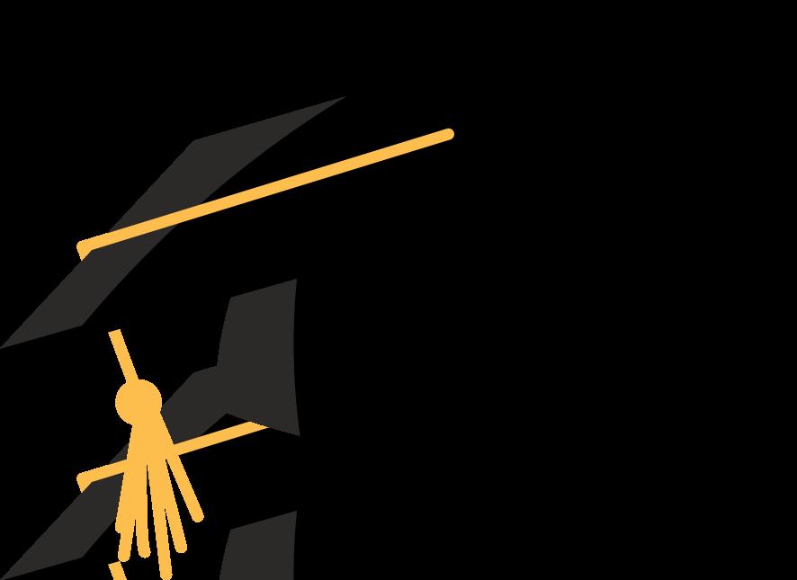 Graduation cap charming fetching. Hats clipart education