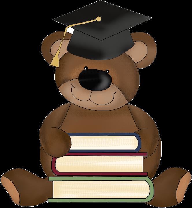 Teddy bear ceremony clip. Graduation clipart picnic